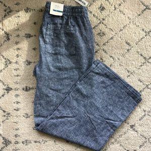 BNWT wide leg linen pants (S)